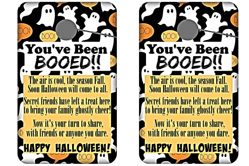 graphic relating to You Ve Been Booed Free Printable referred to as Youve Been BOO-ed! (Enjoyable Halloween Strategy for ALL Ages with