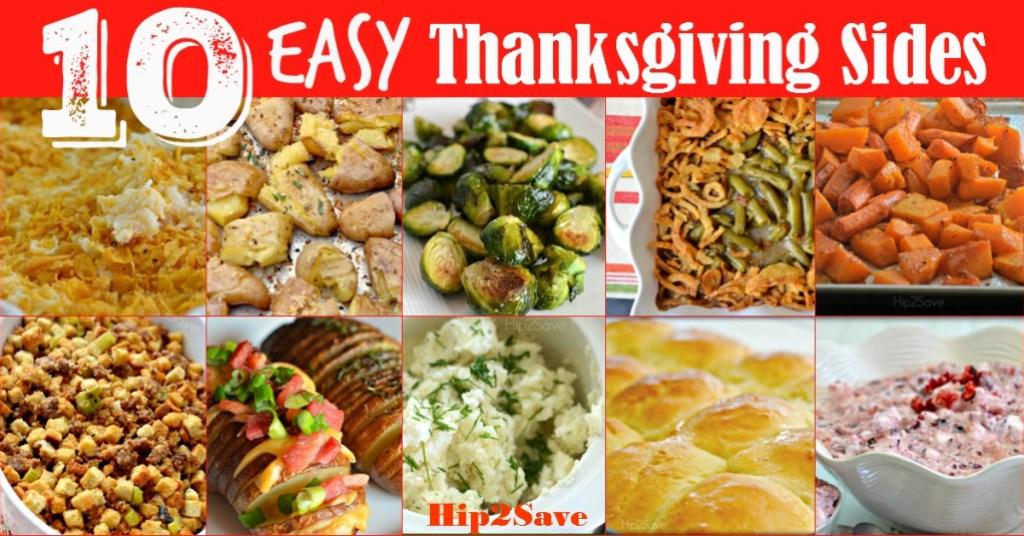 10 Easy Thanksgiving Sides Hip2Save.com