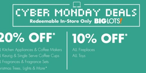 Big Lots: 20% Off In-Store Purchase Coupon Today Only