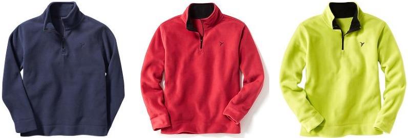 Boys Performance Fleece Half-Zip Pullovers
