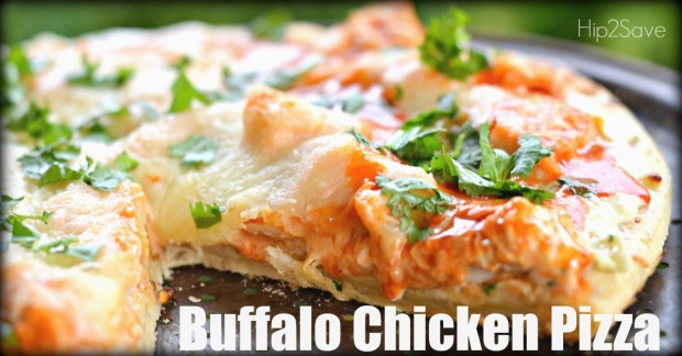Easy Weeknight Buffalo Chicken Pizza by Hip2Save.com