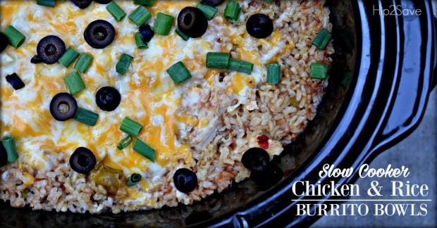 Chciken Burrito Bowls in the Slow Cooker Hip2Save.com
