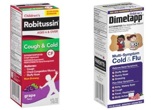 Children's Robitussin and Dimetapp