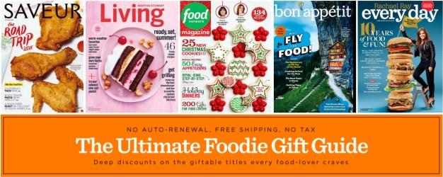 Food magazine sale