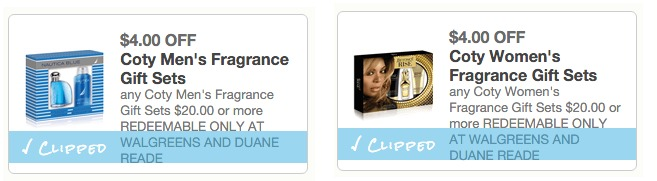 Coty Fragrance Gift Set Coupons