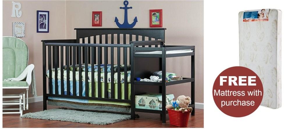 Crib, Changer and mattress