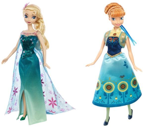 Disney Frozen Fever Elsa and Anna Dolls