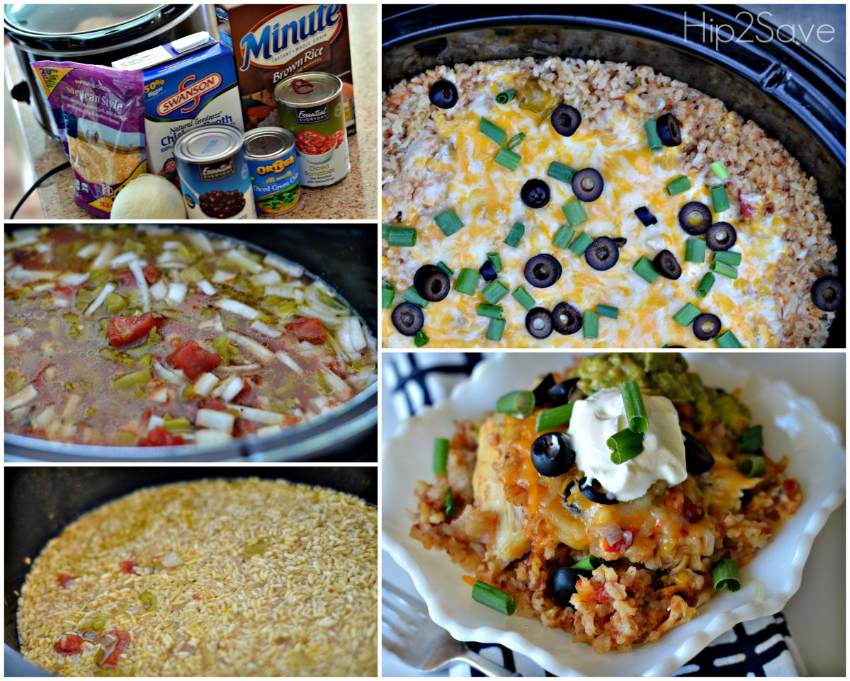 Easy Chciken Burrito Bowls in the Slow Cooker Hip2Save.com