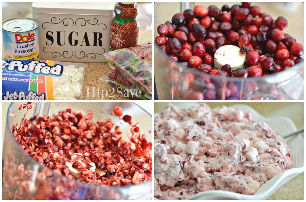 Easy Cranberry Fluff Recipe from Hip2Save.com