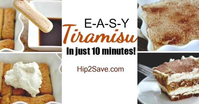 Easy 10 Minute Tiramisu (No-Bake Dessert)