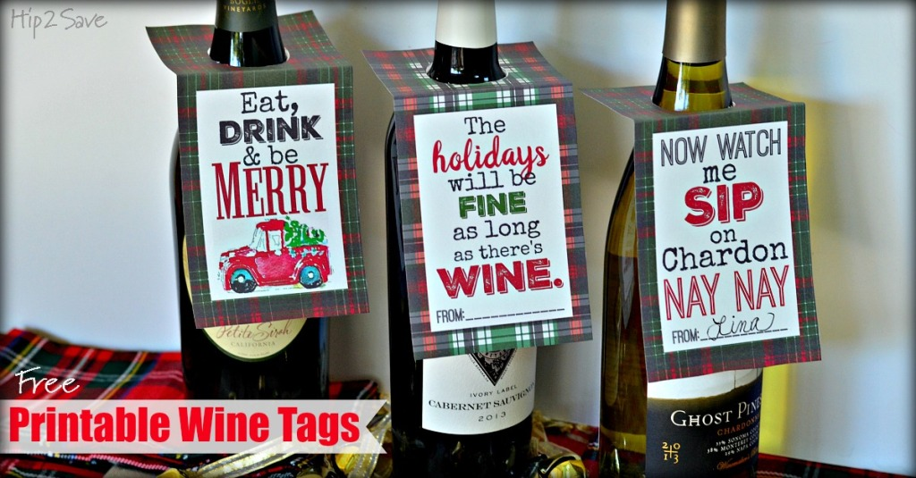 Free Printable Wine Tags from Hip2Save.com