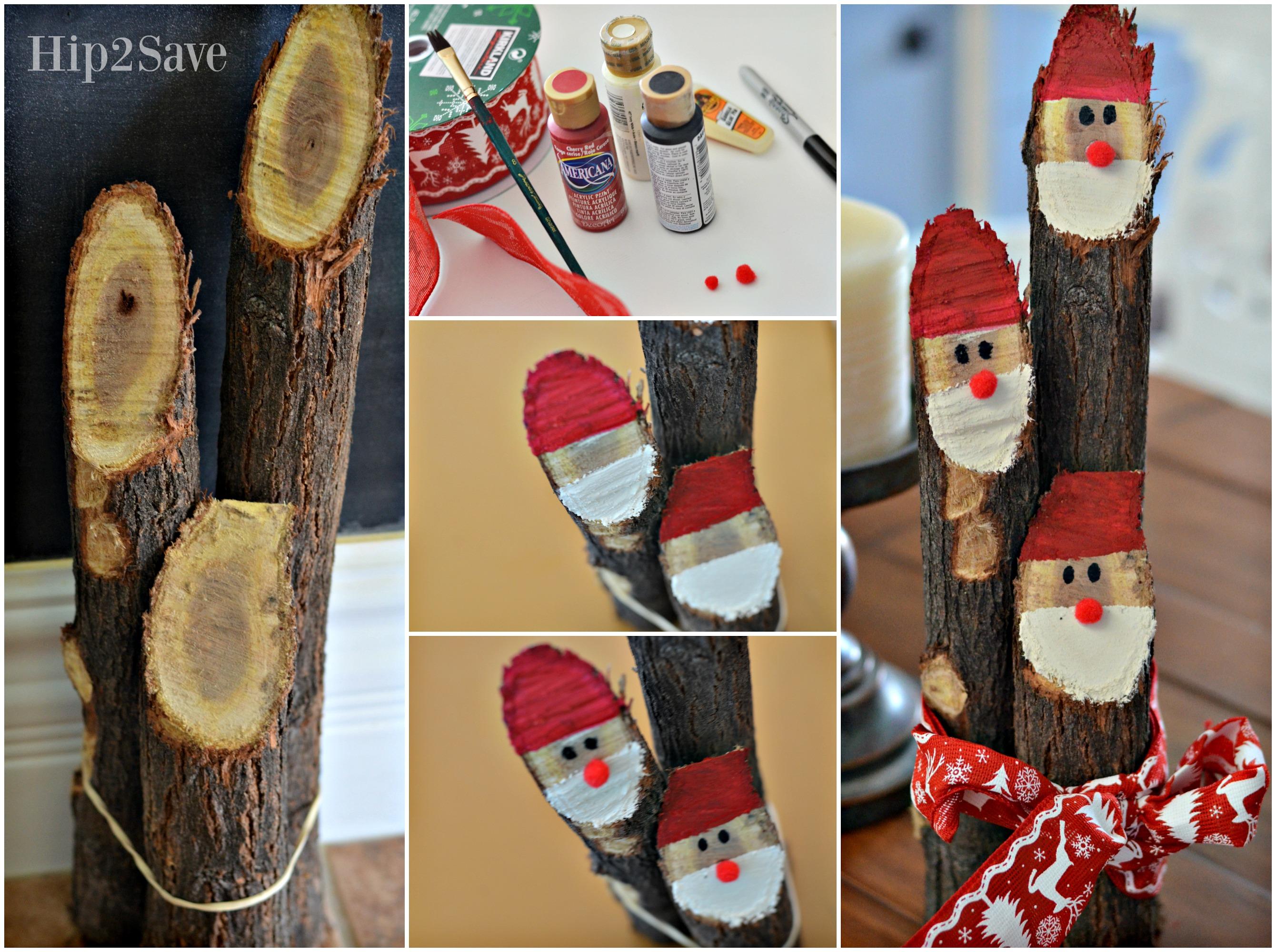 How to make a Log Santa Centerpiece Hip2Save
