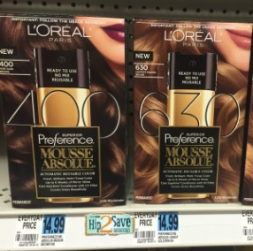 Rite Aid L'Oreal Preference Mousse Absolue