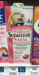 Rite Aid Sudafed