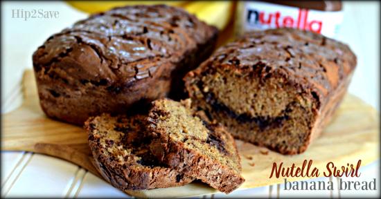 Nutella Swirl Banana Bread Hip2Save.com