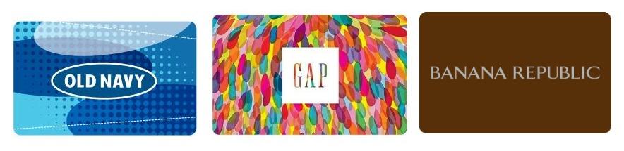 Old Navy, Gap and Banana Republic Gift Cards