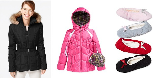 Puffer Coats and Slippers