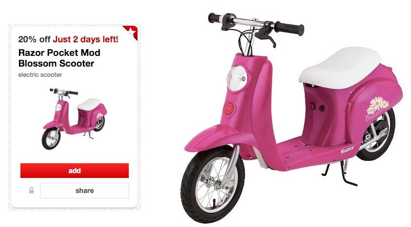 Razor Pocket Mod Blossom Scooter