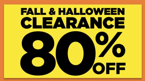 Fall & Halloween Clearance