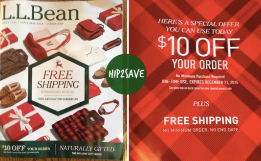 L.L. Bean Catalog: Possible $10 Off ANY Order Coupon + FREE Shipping