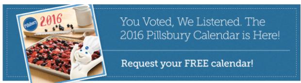 Request FREE 2016 Pillsbury Calendar