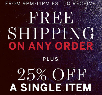 Victoria's Secret free shipping on ANY order