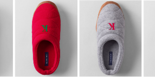 Lands' End: 30% Off + Free Shipping Today Only = Women's Fleece Clog Slippers ONLY $6.29 Shipped