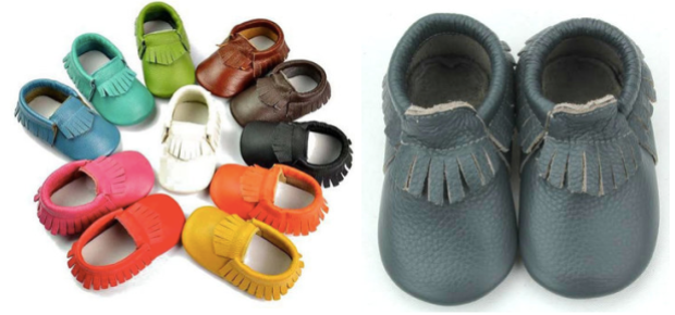 Handmade Leather Baby Moccasins ONLY $11.99