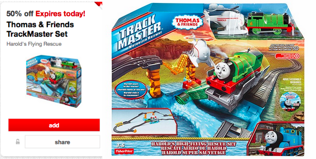 Target 50% Off Thomas & Friends TrackMaster Set
