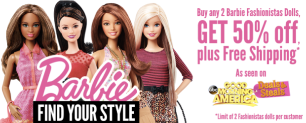 Barbie Fashionistas Dolls ONLY $4.99 Each Shipped