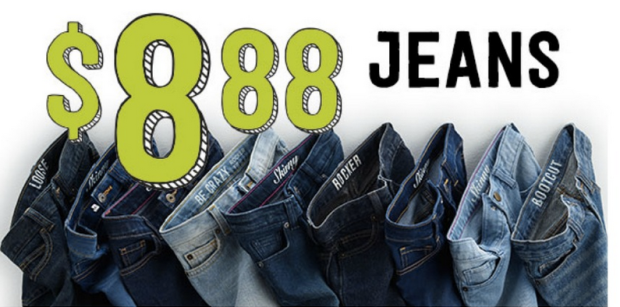 Jeans $8.88