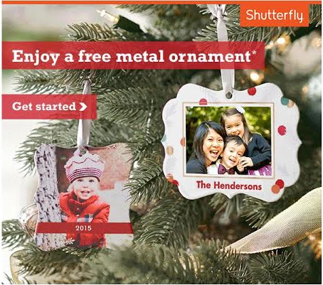 P&G Everyday FREE Shutterfly Metal Ornament