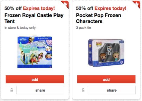 Target Cartwheel: 50% Off Frozen Royal Tent AND 50% Off Pocket Pop Frozen Characters