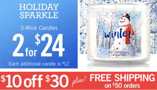 Bath & Body Works: 3-Wick Candles