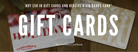 Carrabba's Italian Grill Gift Card Offer