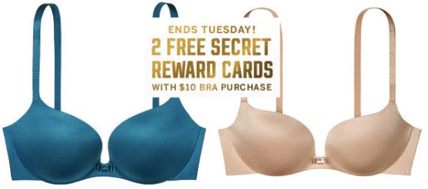 696cd987af Victoria s Secret  Score  20 Off a Bra   TWO Free Secret Reward ...