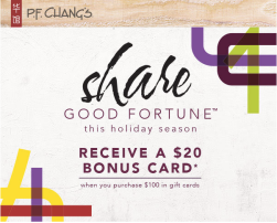 P.F. Chang's Holiday Gift Card Offer