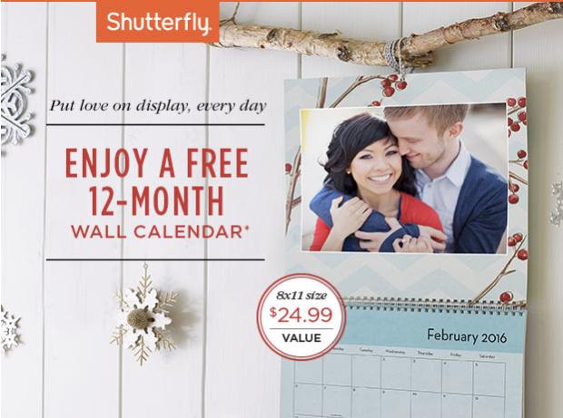 Shutterfly: Possible FREE Wall Calendar