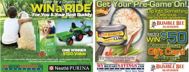 Military: Enter to Win $25-$100 Commissary Card & More (+ Check Out November's Commissary Deals)