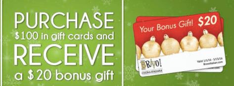 Bravo Gift Card offer 2015
