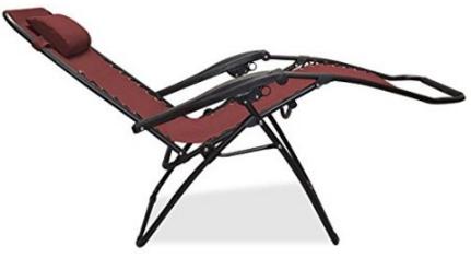 Caravan Sports Infinity Zero Gravity Chair in Burgundy