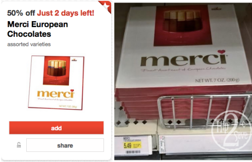 Target Merci Chocolate