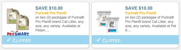 $10/2 Purina Pro Plan Cat Litter coupons