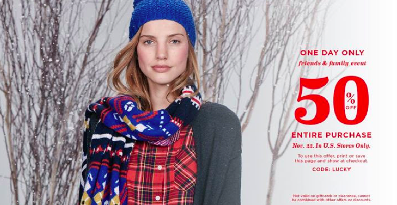 Old Navy 50% off coupon