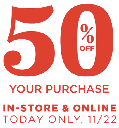 50% Off In-Store and Online at Old Navy
