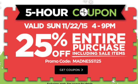 Michaels 25% Off ENTIRE purchase coupon