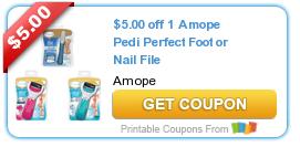 $5/1 Amope Pedi Perfect Foot or Nail File Gadget Coupon