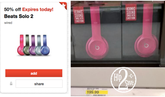 Target: Beats 2 Solo Wired Headphones