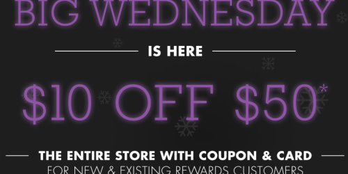 Big Lots: $10 Off $50 Purchase (Today Only)