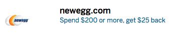 Newegg American Express Offer